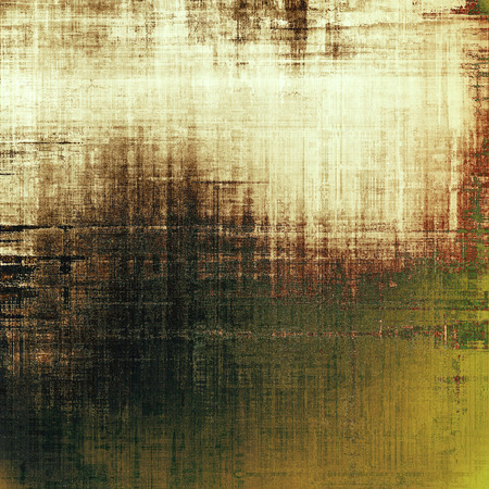 threadbare: Grunge retro vintage texture, old background. With different color patterns: yellow (beige); brown; black; green; white Stock Photo
