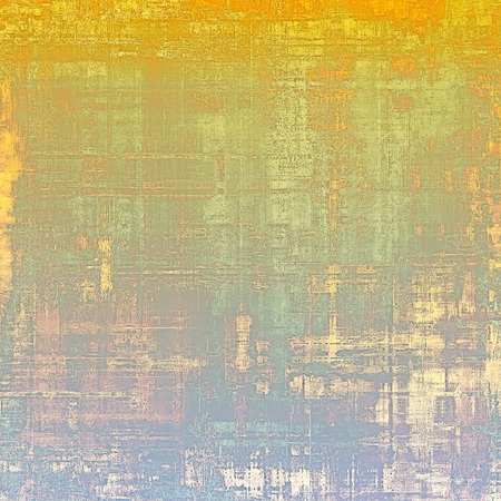 Old abstract grunge background for creative designed textures. With different color patterns: yellow (beige); brown; purple (violet); green