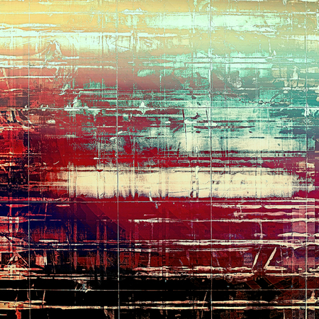 grooves: Retro background with grunge texture. With different color patterns: yellow (beige); brown; black; blue; red (orange) Stock Photo