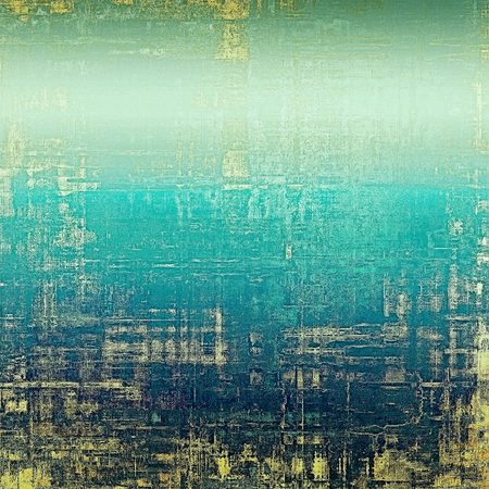 obsolete: Grunge old-school texture, background for design. With different color patterns: yellow (beige); blue; gray; cyan