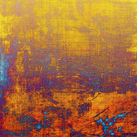 grained: Abstract old background or faded grunge texture. With different color patterns: yellow (beige); brown; blue; red (orange); purple (violet) Stock Photo