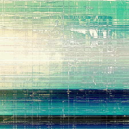 oldfield: Old, grunge background or ancient texture. With different color patterns: brown; blue; cyan; green; white Stock Photo