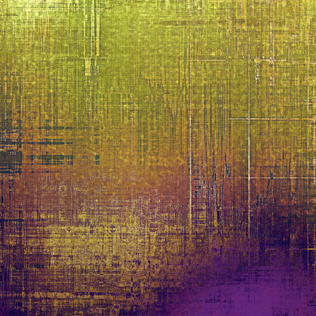 wall decor: Old style detailed texture - retro background with space for text or image. With different color patterns: yellow (beige); brown; green; purple (violet) Stock Photo