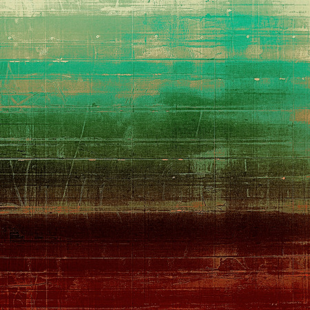 creative arts: Abstract blank grunge background, old texture with stains and different color patterns: yellow (beige); brown; red (orange); gray; green Stock Photo