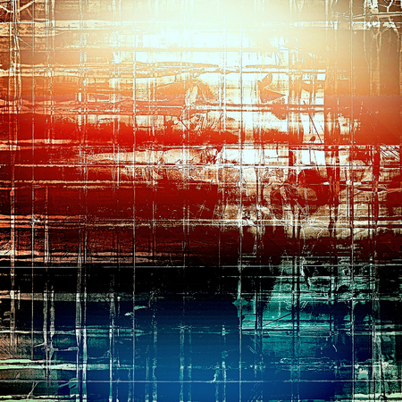 oldschool: Grunge old-school texture, background for design. With different color patterns: brown; red (orange); black; blue; white Stock Photo