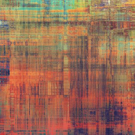 threadbare: Old, grunge background or ancient texture. With different color patterns: brown; red (orange); blue; green; purple (violet) Stock Photo