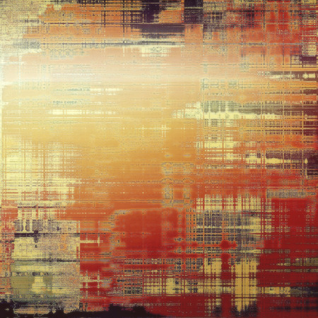 spotted line: Abstract old background with rough grunge texture. With different color patterns: yellow (beige); brown; red (orange); gray Stock Photo