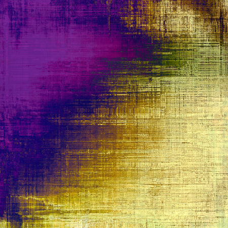 antique art: Grunge texture with decorative elements and different color patterns: yellow (beige); brown; blue; green; purple (violet)
