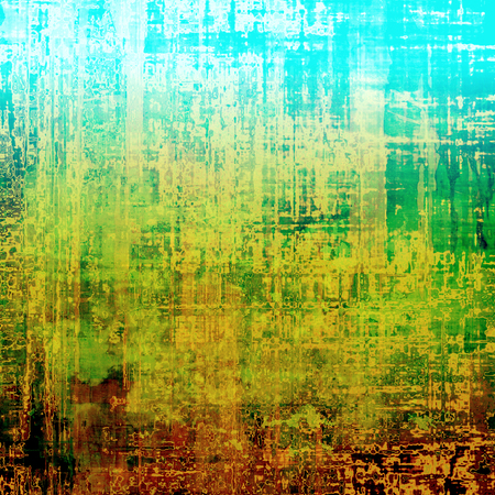 old fashioned sepia: Aged grunge texture. With different color patterns: yellow (beige); brown; green; blue; red (orange)