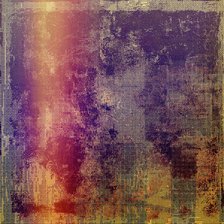 violet red: Art vintage background with space for text and different color patterns: yellow (beige); brown; red (orange); purple (violet); pink