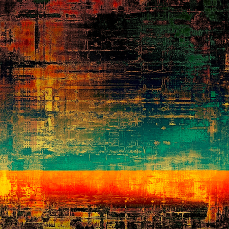 grooves: Ancient grunge background texture. With different color patterns: yellow (beige); green; blue; red (orange); black