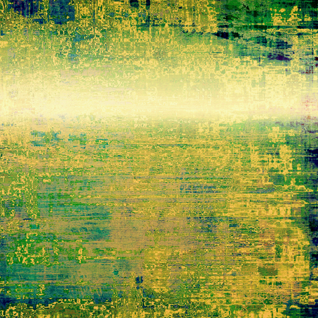 blemish: Aging grunge texture designed as abstract old background. With different color patterns: yellow (beige); brown; green; blue