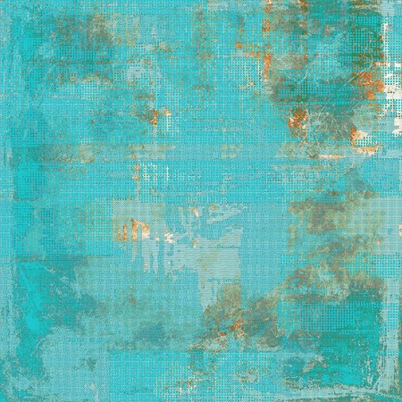 cyan: Vintage textured background. With different color patterns: yellow (beige); brown; green; blue; cyan Stock Photo