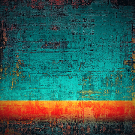 corrosion: Colorful designed grunge background. With different color patterns: yellow (beige); blue; red (orange); cyan; black