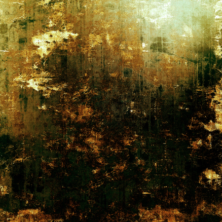 aging: Grunge aging texture, art background. With different color patterns: yellow (beige); brown; green; gray; black Stock Photo