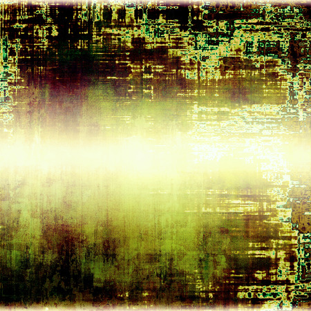 Abstract grunge background. With different color patterns: yellow (beige); brown; green; black; white Stock Photo