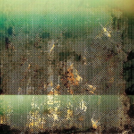 Old, grunge background texture. With different color patterns: yellow (beige); brown; green; gray; black Stock Photo