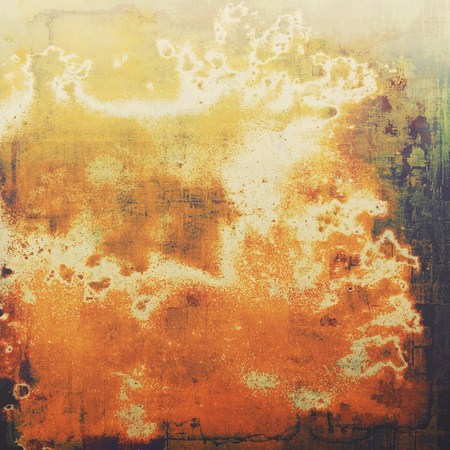 crosshatching: Beautiful vintage background. With different color patterns: yellow (beige); brown; green; red (orange); black Stock Photo