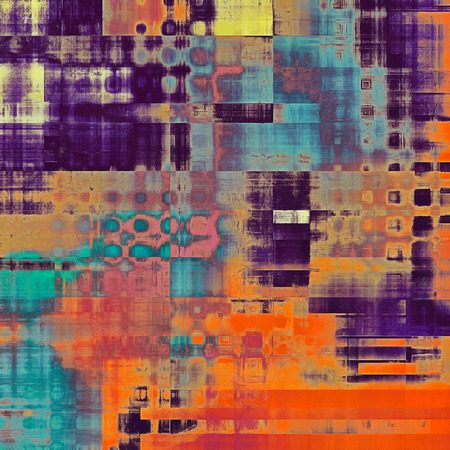 intensity: Geometric old texture with delicate abstract pattern as grunge background. With different color patterns: yellow (beige); blue; red (orange); purple (violet); pink Stock Photo