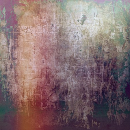 cool backgrounds: Aged grunge texture. With different color patterns: yellow (beige); green; red (orange); purple (violet); gray