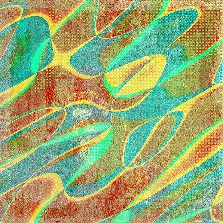 blemish: Geometric background with grunge elements. With different color patterns: yellow (beige); brown; green; blue; red (orange) Stock Photo
