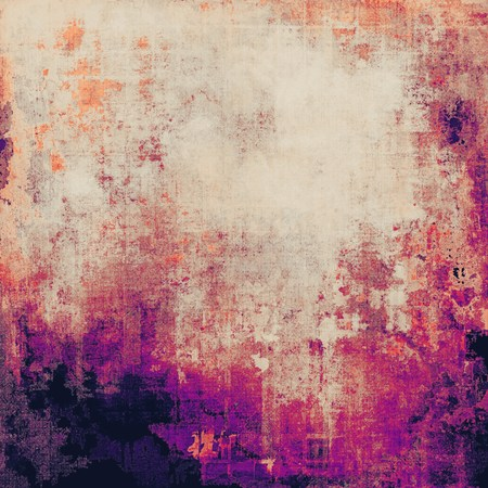 eroded: Aging grunge texture, old illustration. With different color patterns: yellow (beige); red (orange); purple (violet); gray; pink