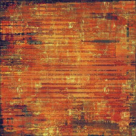 eroded: Grunge stained texture, distressed background with space for text or image. With different color patterns: yellow (beige); brown; red (orange); black