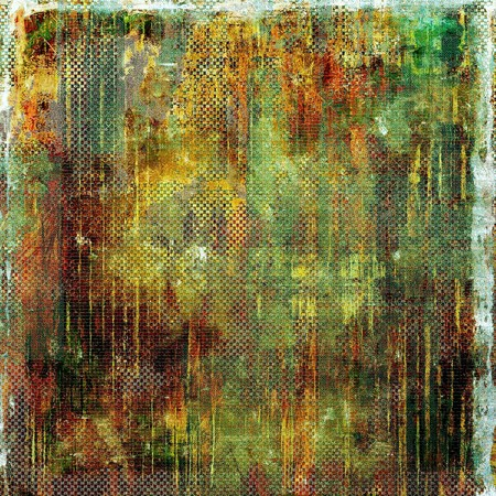 green banner: Old antique texture (for background). With different color patterns: yellow (beige); brown; green; red (orange); gray