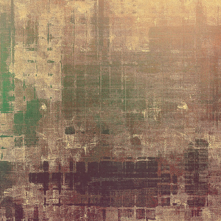 degraded: Rough grunge texture. With different color patterns: yellow (beige); brown; green; gray