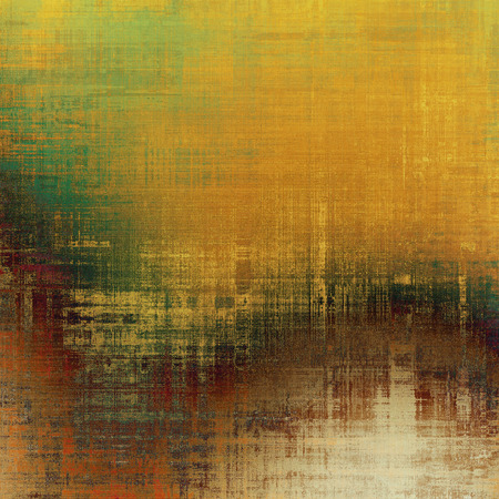 eroded: Beautiful vintage background. With different color patterns: yellow (beige); brown; green; red (orange); gray