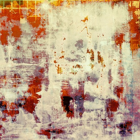 violet red: Colorful vintage background, grunge texture with scratches, stains and different color patterns: yellow (beige); red (orange); purple (violet); white; pink