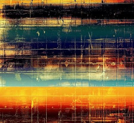 degraded: Abstract grunge damaged background or texture. With different color patterns: yellow (beige); brown; blue; red (orange); black