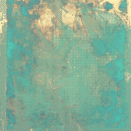 shadowy: Abstract vintage background with grunge effects and ragged elements. With different color patterns: yellow (beige); brown; green; blue; cyan Stock Photo