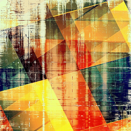 nice looking: Geometric beautiful retro background, nice looking ancient texture with different color patterns: yellow (beige); brown; green; blue; red (orange)