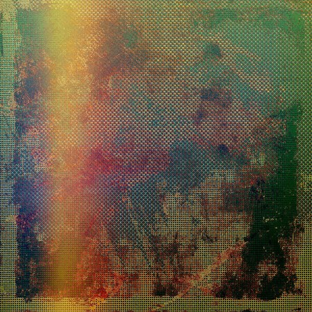 obscure: Creative grunge background in vintage style, shabby texture. With different color patterns: yellow (beige); brown; green; red (orange); purple (violet)