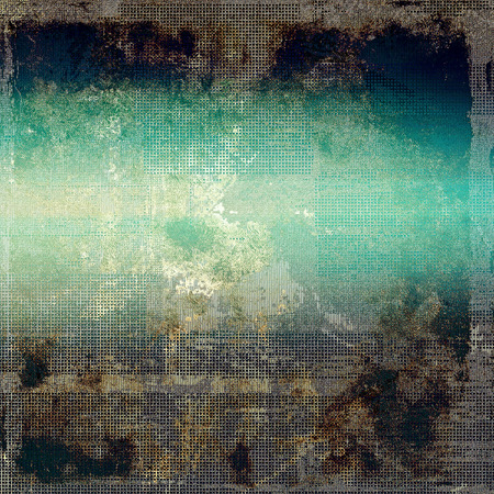 blemish: Colorful abstract retro background, aged vintage texture. With different color patterns: brown; green; blue; cyan; black