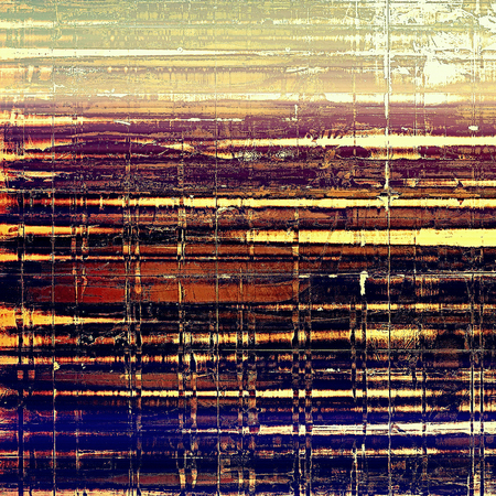 eroded: Art grunge texture, vintage abstract background for creative design. With different color patterns: yellow (beige); blue; red (orange); purple (violet); black