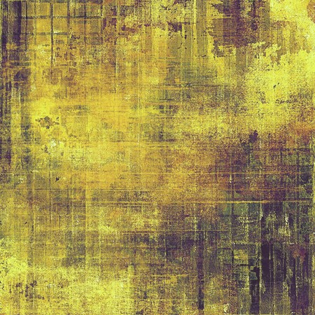 eroded: Abstract grunge vintage background or texture. With different color patterns: yellow (beige); brown; green; purple (violet) Stock Photo