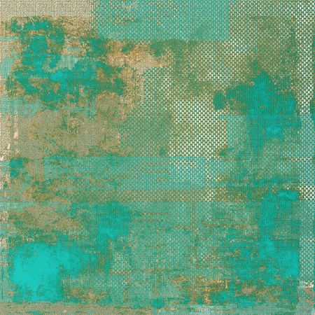 vintage look: Antique texture with vintage look. With different color patterns: yellow (beige); brown; green; blue; cyan