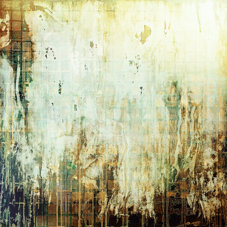 stretched: Abstract vintage background with faded grungy texture. With different color patterns: yellow (beige); brown; green; gray; white