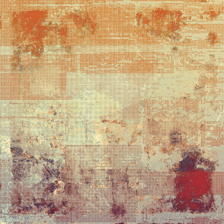exceptional: Art grunge texture - for creative design or scrapbook. With different color patterns: yellow (beige); brown; red (orange); gray