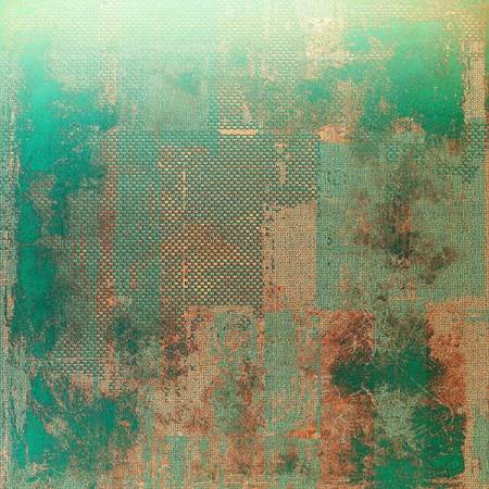 stretched: Art grungy texture, background with retro feeling. With different color patterns: yellow (beige); brown; green; blue; gray Stock Photo