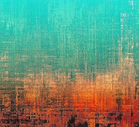 orange background abstract: Grunge scratched background, abstract vintage style texture with different color patterns: yellow (beige); blue; red (orange); cyan; black