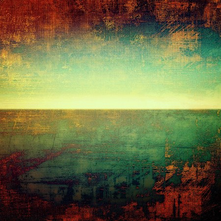grime: Nice looking grunge texture or abstract background. With different color patterns: yellow (beige); brown; green; red (orange); cyan
