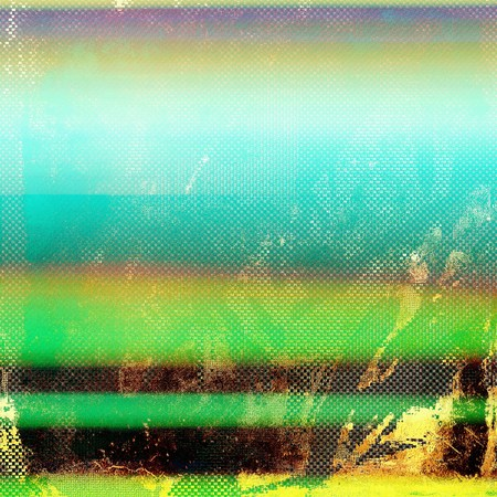 degraded: Grunge retro composition, textured vintage background. With different color patterns: yellow (beige); brown; green; blue Stock Photo