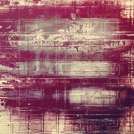 eroded: Decorative vintage texture or creative grunge background with different color patterns: yellow (beige); purple (violet); gray; pink