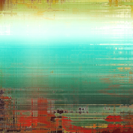 intensity: Grunge background with delicate aged texture. With different color patterns: green; blue; red (orange); cyan; white Stock Photo