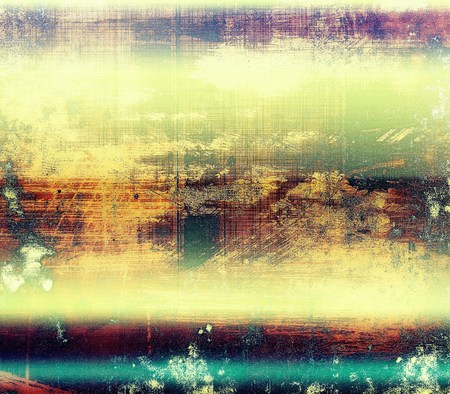 degraded: Old grungy stylish composition, vintage texture with different color patterns: yellow (beige); green; blue; red (orange); purple (violet) Stock Photo