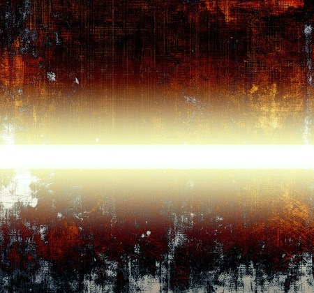 degraded: Grunge texture in ancient style, aged background with creative decor and different color patterns: yellow (beige); brown; red (orange); black; white Stock Photo