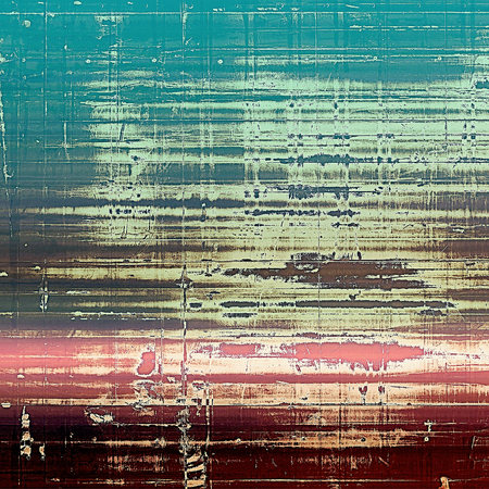 exceptional: Mottled vintage background with grunge texture and different color patterns: yellow (beige); brown; blue; cyan; pink Stock Photo